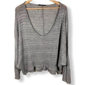 Brandy Melville Oversized Deep V-Neck Sweater